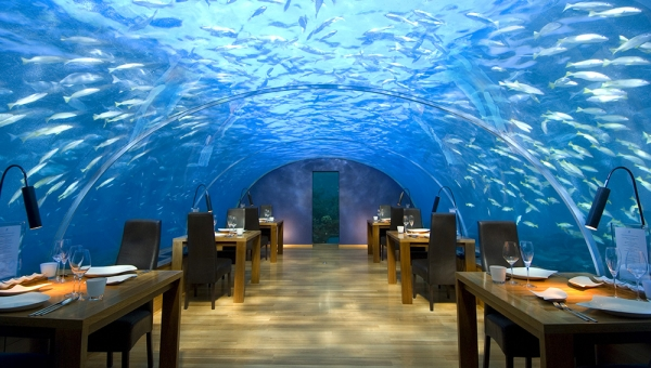Dining with a difference at the exclusive Ithaa underwater restaurant