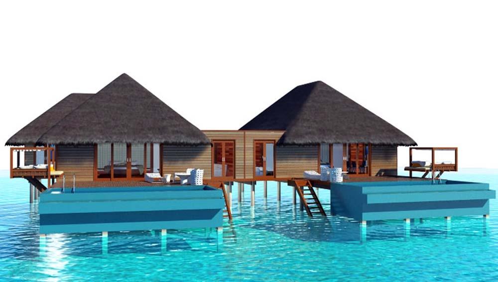 Family Water Villa at Conrad Maldives Rangali