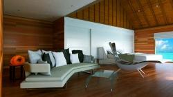 Conrad Maldives Premier Suite bedroom