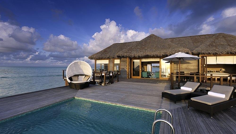 Sunset Water Villa deck