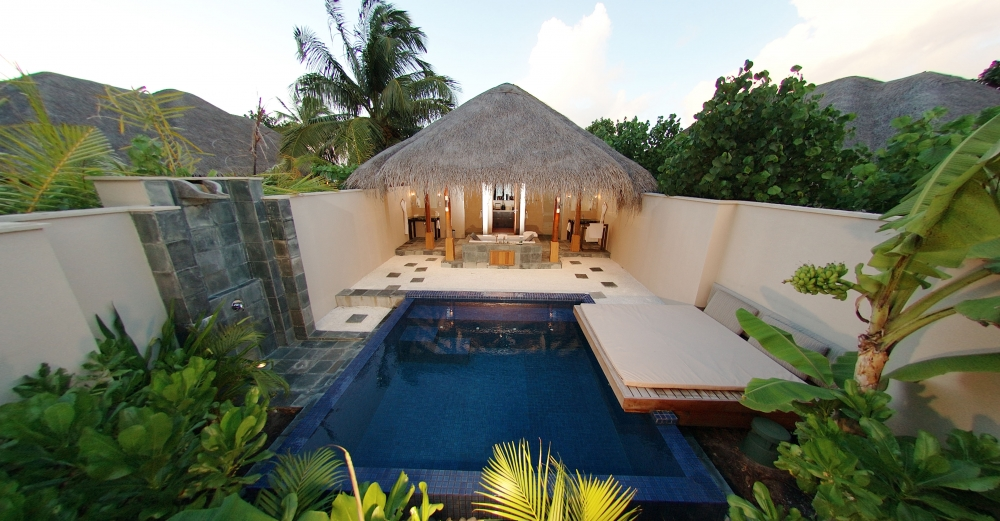 three bedroom cube with pool at huvafen fushi. Black Bedroom Furniture Sets. Home Design Ideas