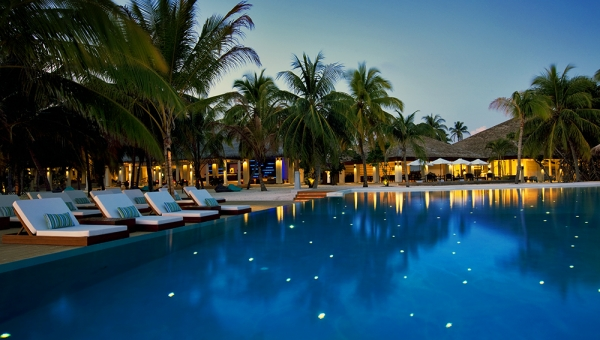 Infinity Pool in the evening