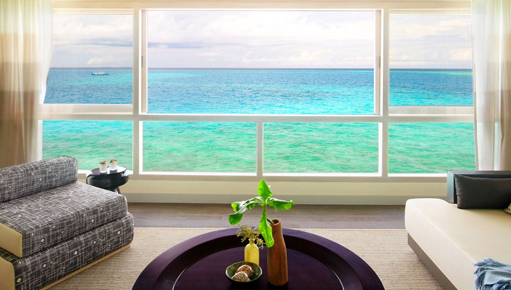 Viceroy Deluxe Water Villa Interior Window