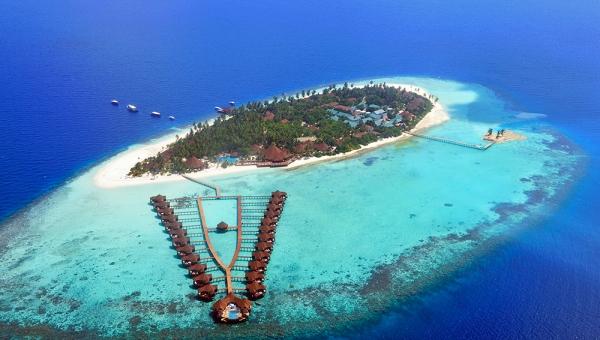 Robinson Club Maldives Aerial View