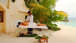 Ayurveda massage on private beach