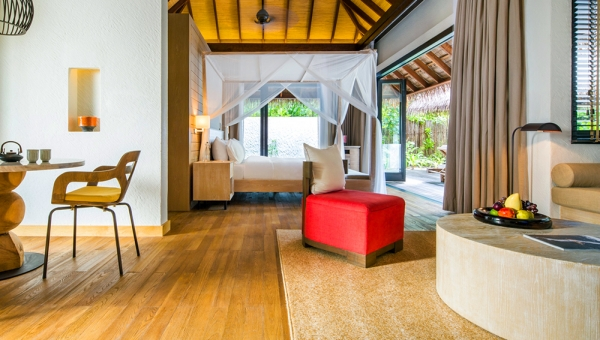 bedroom beach villa