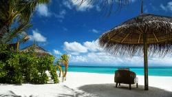 Beach Hut View