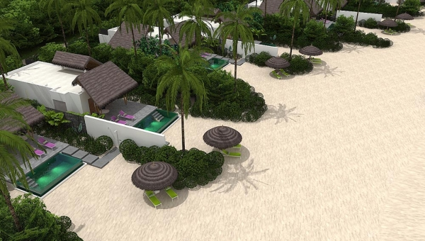 Beach Villas with Pool