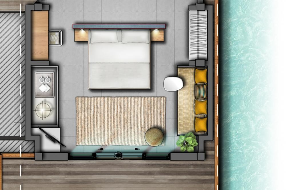 2 Bedroom Lagoon Overwater Villa