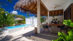 Stay 4 Nights in Beach Pool Villa on Half Board Basis at Finolhu Maldives