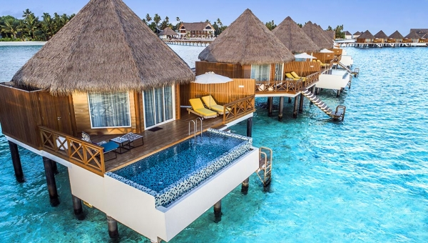 STAY 5 NIGHTS SUNSET OVERWATER VILLA WITH POOL